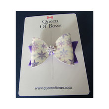 Load image into Gallery viewer, Cute felt snowflake bow hair clips for girls