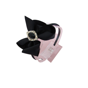 Back to school boutique style ribbon bow headbands for girls