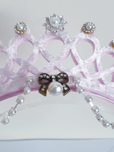 Load image into Gallery viewer, Beautiful pink tiara crown for girls