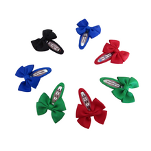 Load image into Gallery viewer, Back to school ribbon bow snap clips for girls