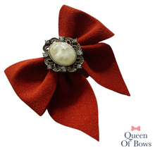 Load image into Gallery viewer, Vintage style autumn bow hair clips for girls and women