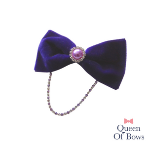 Velvet tux bows for girls and women