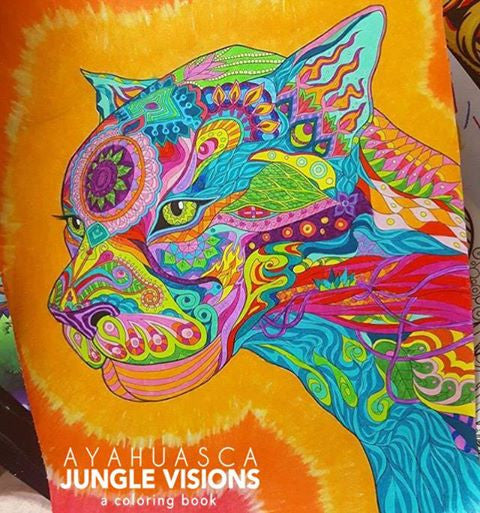 ayahuasca jungle visions a coloring book divine arts michael wiese productions