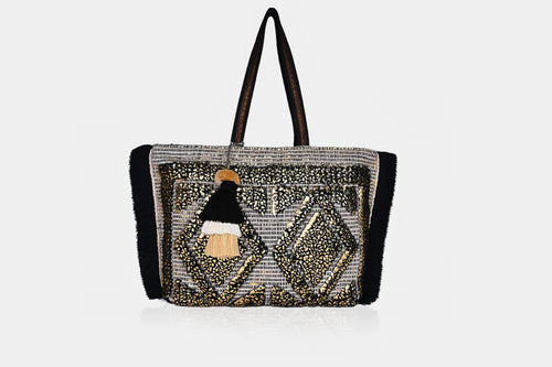 Gold Foil Tufted Tote Bag - Half Past Three Clothing