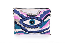 Load image into Gallery viewer, True Blue Evil Eye Clutch - Half Past Three Clothing