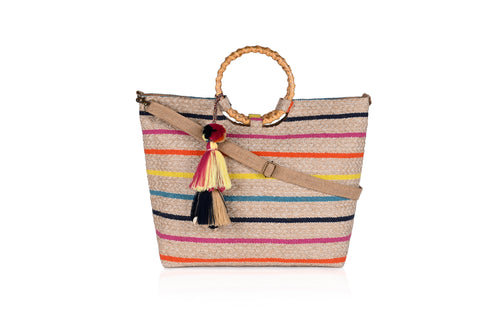 Bahama Breeze Wicker Ring Tote - Half Past Three Clothing
