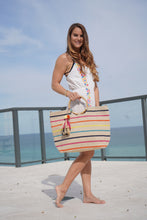 Load image into Gallery viewer, Bahama Breeze Wicker Ring Tote - Half Past Three Clothing