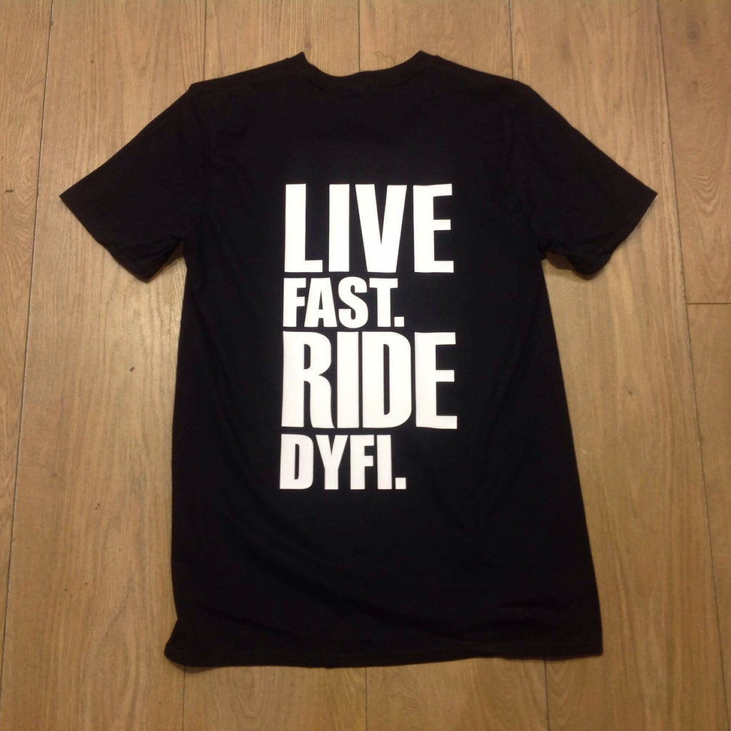 Live Fast Ride Dyfi Mountain Biking T-Shirt