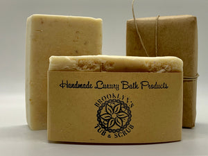 Unscented Goat's Milk Soap- with Oats & Honey