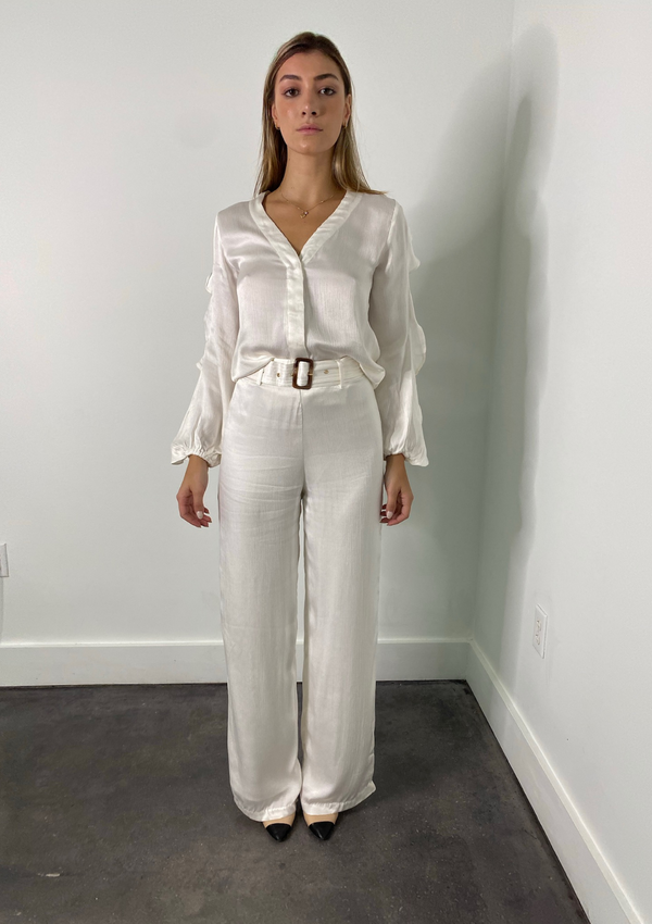 LAURA SOLID PANTS - IVORY