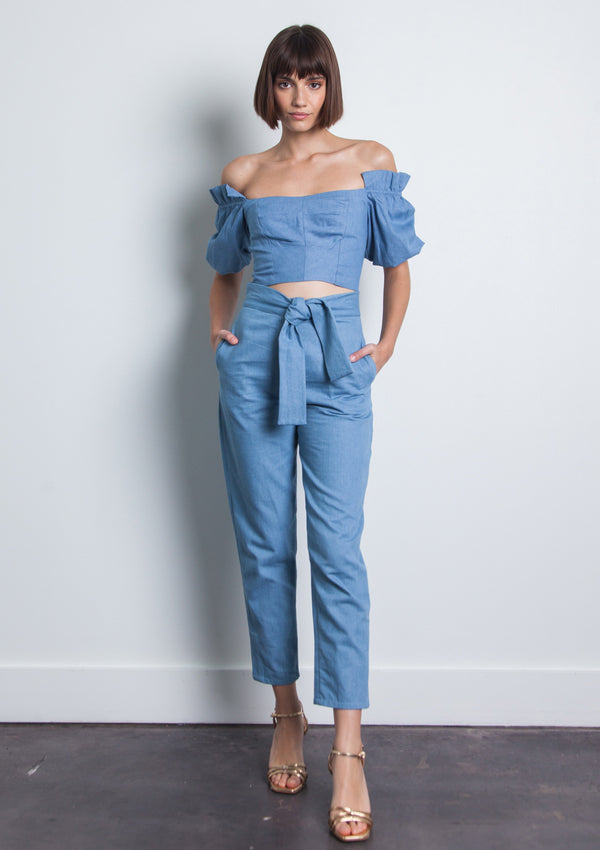 Martha Denim Top - Denim