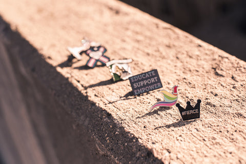Pins with Purpose program provides custom enamel pins for organizations for fundraising efforts and visibility.