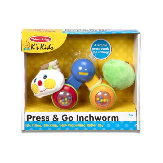 Press & Go Inchworm Baby and Toddler Toy - Dimples Baby Brooklyn