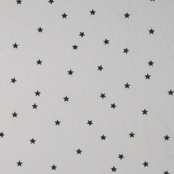 First Essentials Crib Sheet - Gray Stars - Dimples Baby Brooklyn