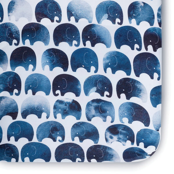 Elephant Crib Sheet - Dimples Baby Brooklyn