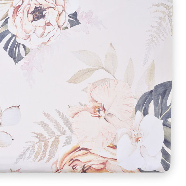 Vintage Bloom Floral Crib Sheet - Dimples Baby Brooklyn