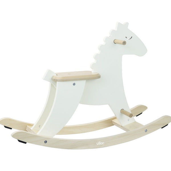 Ivory White Rocking Horse - Dimples Baby Brooklyn