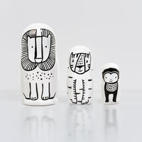 Wild Animals Nesting Dolls - Dimples Baby Brooklyn