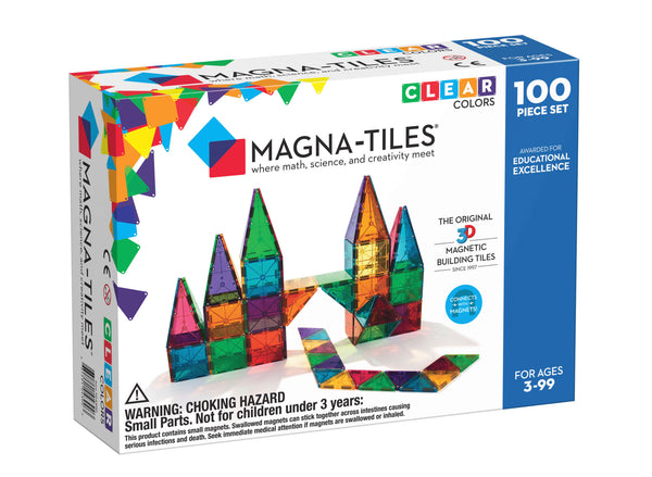 Magna- Tiles 100 Piece Colors - Dimples Baby Brooklyn