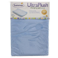 Ultra Plush Changing Pad Cover (Blue) - Dimples Baby Brooklyn