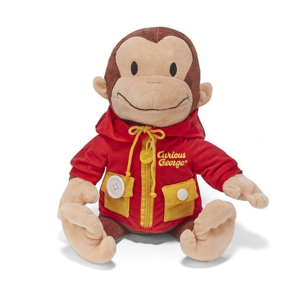 Curious George Learn to Dress Stuffed Animal - Dimples Baby Brooklyn