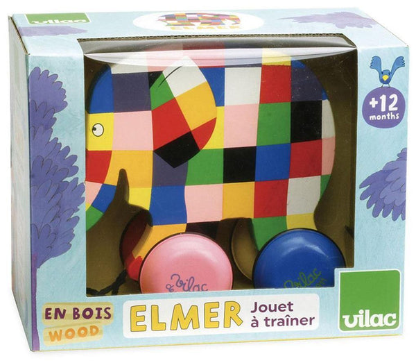 Elmer Pull toy - Dimples Baby Brooklyn