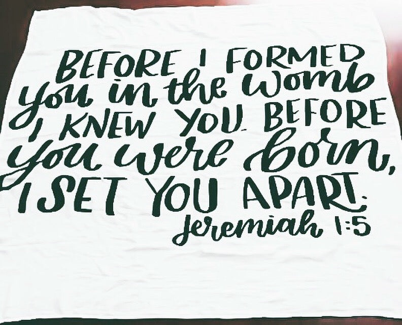 Jeremiah 1:5 - Before I Formed You
