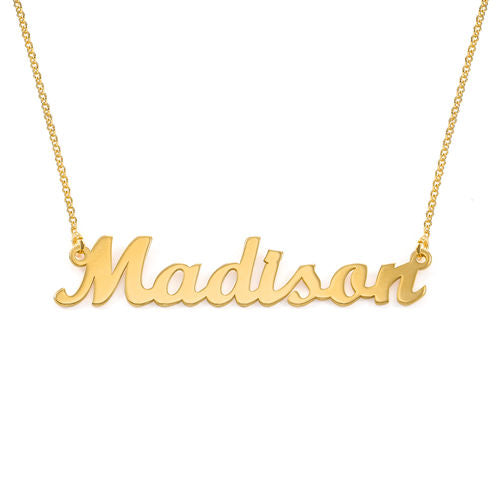 Personalized Original Name Necklace - Gold