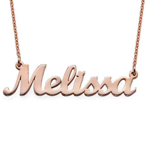 Personalized Original Name Necklace - Rose Gold
