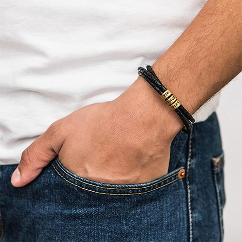 [NEW] Personalized Leather Men Bracelet