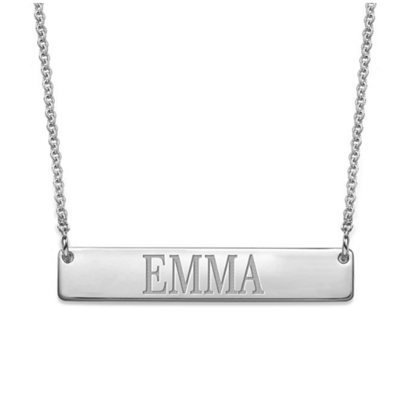 [NEW] Engraved Bar Necklace