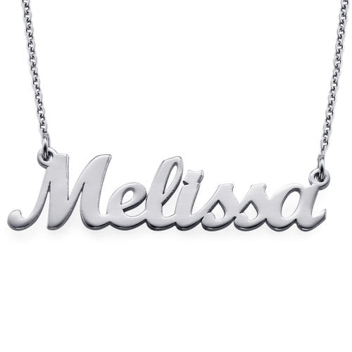Personalized Original Name Necklace – Silver