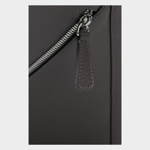 Bags-by-SUMAGEZA-SU-Backpack-slim - backpack-dark grey-calf leather, detail view-17, straight line outside, base of design