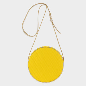 Bags-by-SUMAGEZA-SU-Boite-de-chocolat-neo yellow shoulder bag - direct front view-1.