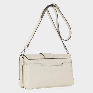 Bags-by-SUMAGEZA-SU-Bubinga - ladies bag-beige-calfskin-long handle, backside-18, turned 30 degrees to the right, beige calfskin with contrasting black rim