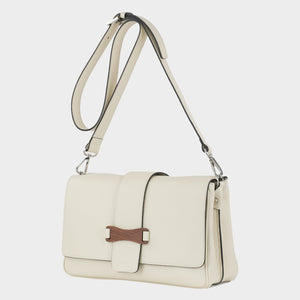 Bags-by-SUMAGEZA-SU-Bubinga - ladies bag-beige calf leather-long handle, front-15, turned 30 degrees to the left, bubingawooded the front, interchangeable long and short handle