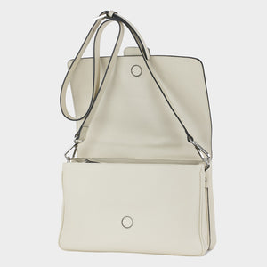 Bags-by-SUMAGEZA-Su-Bubinga - ladies bag-beige-calf leather-long handle, front-open lid-19, showing high quality of materials and craftsmanship.