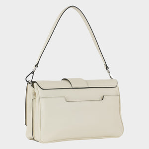 Bags-by-SUMAGEZA-SU-Bubinga - ladies bag-beige-calfskin-short handle, back-5, turned 30 degrees to the right, short and long handle interchangeable