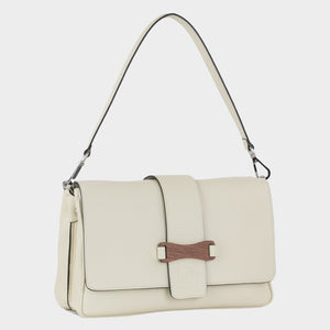 Bags-by-SUMAGEZA-SU-Bubinga - ladies bag-beige-calf leather-short handle, front-9, turned 30 degrees to the right, short and long handle easily interchangeable.