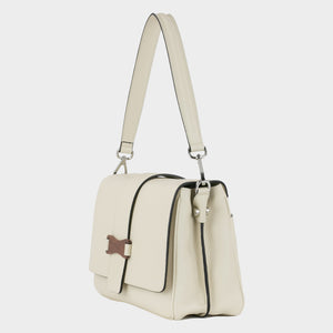 Bags-by-SUMAGEZA-SU-Bubinga - ladies bag-beige-calfskin-short handle, side-view-left-4, turned 45 degrees to the left, comes with short and long handles.