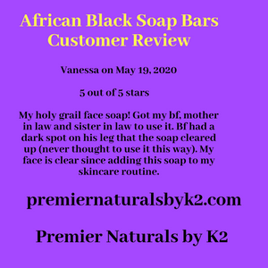 African Black Soap Bars (8 to 16 oz)