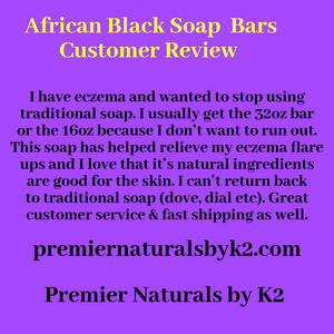 African Black Soap Bars