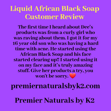 Load image into Gallery viewer, Liquid African Black Soap (3 to 8 oz)