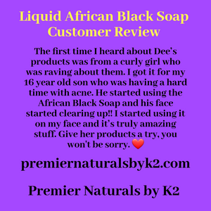 Liquid African Black Soap (3 to 8 oz)