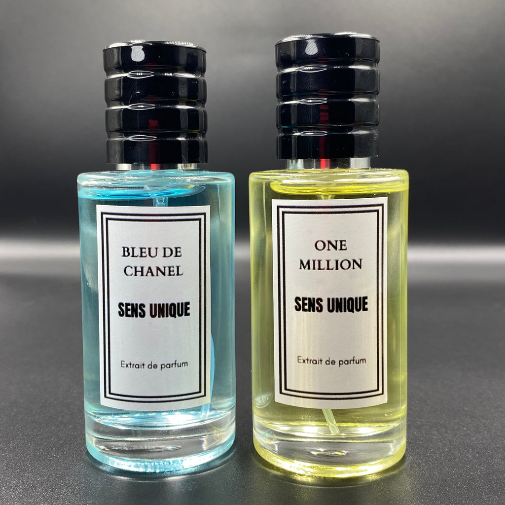 Pack x 2 Parfums 50ml Génériques Bleu de Chanel + one million