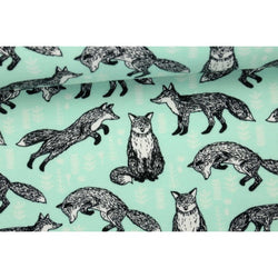 End of Roll - Vatrious Sizes - Foxes - Andrea Lauren - Organic Cotton Sweatshirting