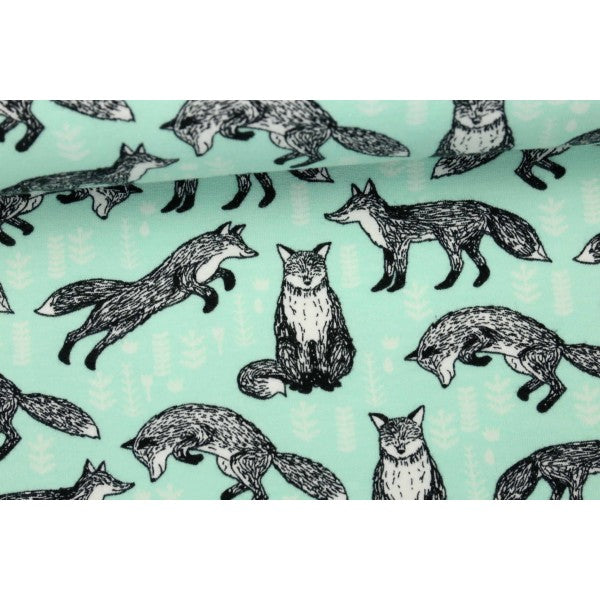 Foxes - Andrea Lauren - Organic Cotton Sweatshirting