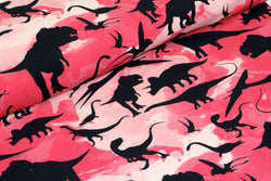 Dinosaur Pink - Organic Cotton Sweatshirting