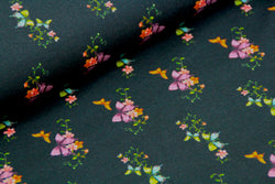 End of Roll - 150 cm - Butterflies Black - Cotton Jersey