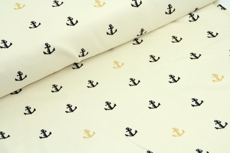 Inkwell Collection - Little anchor metallic - Organic Cotton knit